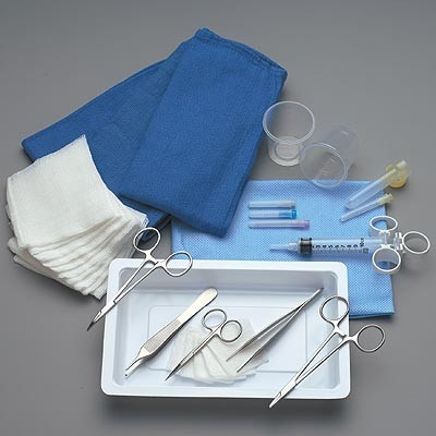 Facial Plastic Laceration Tray Product Number: T96-1707
